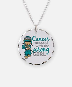 Combat Girl Ovarian Cancer Necklace