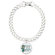 Combat Girl Ovarian Canc Charm Bracelet, One Charm