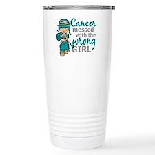 Combat Girl Ovarian Can Travel Coffee Mug