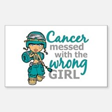 Combat Girl Ovarian Cancer Decal