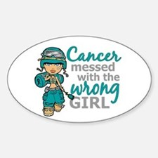 Combat Girl Ovarian Cancer Decal