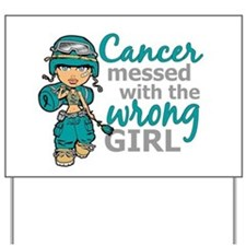 Combat Girl Ovarian Cancer Yard Sign