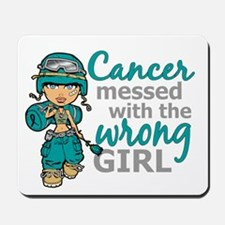Combat Girl Ovarian Cancer Mousepad