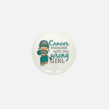 Combat Girl Ovarian Cancer Mini Button (10 pack)