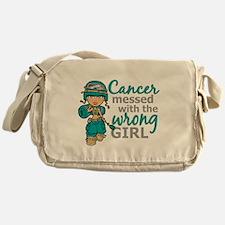 Combat Girl Ovarian Cancer Messenger Bag