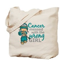 Combat Girl Ovarian Cancer Tote Bag
