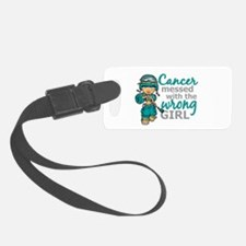 Combat Girl Ovarian Cancer Luggage Tag