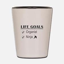 Organist Ninja Life Goals Shot Glass