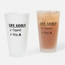 Organist Ninja Life Goals Drinking Glass