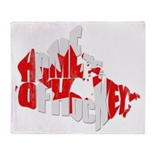 Canada Home of Hockey Throw Blanket