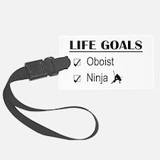 Oboist Ninja Life Goals Luggage Tag