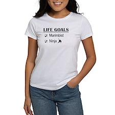 Marimbist Ninja Life Goals Tee