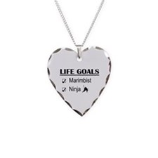 Marimbist Ninja Life Goals Necklace Heart Charm