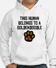 This Human Belongs To A Goldendoodle Hoodie