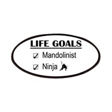 Mandolinist Ninja Life Goals Patches