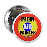 "Plein Air Painter on Duty 2.25"" Button (10 pack)"