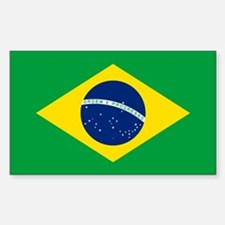 Brazil Flag Sticker (Rectangle)