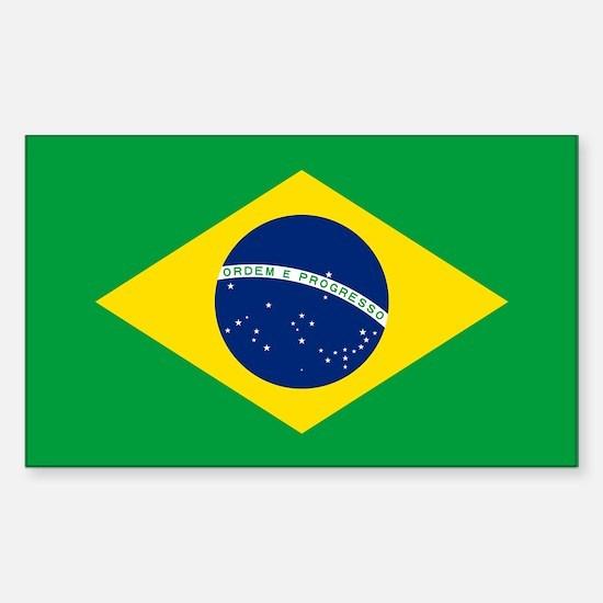 Brazil Flag Sticker (Rectangle)