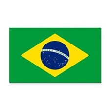 Brazil Flag Rectangle Car Magnet