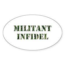 Militant Infidel Decal