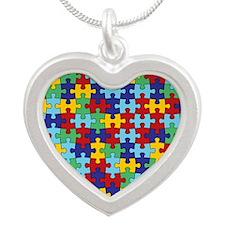 Autism Awareness Puzzle Pi Necklaces