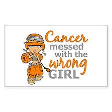Combat Girl Leukemia Decal