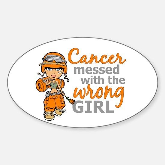 Combat Girl Leukemia Sticker (Oval)