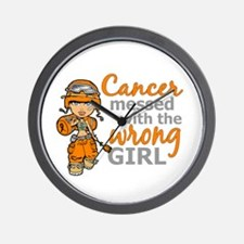 Combat Girl Leukemia Wall Clock