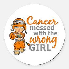 Combat Girl Leukemia Round Car Magnet