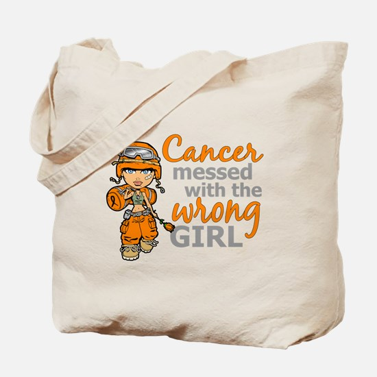 Combat Girl Leukemia Tote Bag