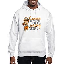 Combat Girl Kidney Cancer Hoodie