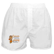 Combat Girl Kidney Cancer Boxer Shorts