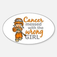 Combat Girl Kidney Cancer Sticker (Oval)