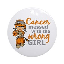 Combat Girl Kidney Cancer Ornament (Round)