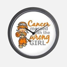 Combat Girl Kidney Cancer Wall Clock
