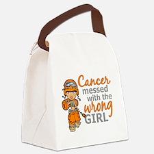 Combat Girl Kidney Cancer Canvas Lunch Bag