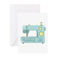 Material Girl Greeting Cards