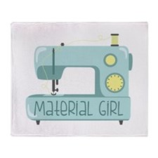 Material Girl Throw Blanket