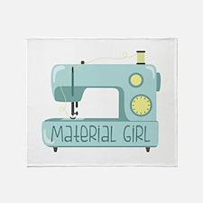 Material Girl Throw Blanket