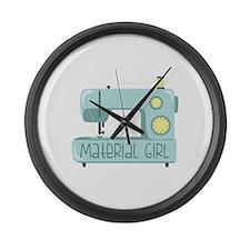 Material Girl Large Wall Clock