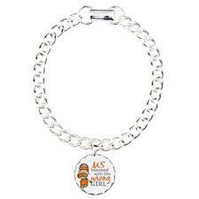 Combat Girl MS Charm Bracelet, One Charm