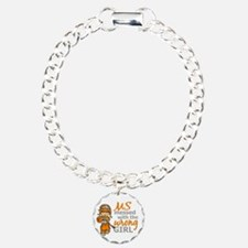 Combat Girl MS Charm Bracelet, One Charm