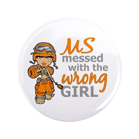 """Combat Girl MS 3.5"""" Button"""