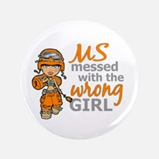 "Combat Girl MS 3.5"" Button"
