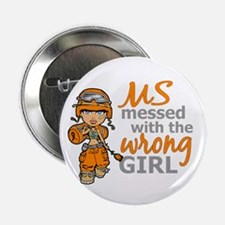 "Combat Girl MS 2.25"" Button"