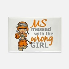 Combat Girl MS Rectangle Magnet