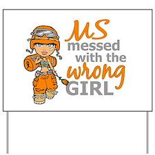 Combat Girl MS Yard Sign