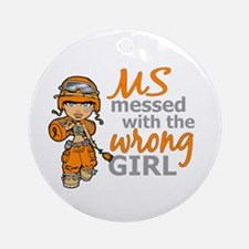 Combat Girl MS Ornament (Round)
