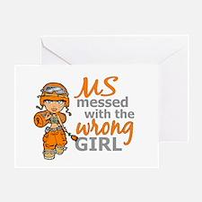 Combat Girl MS Greeting Card