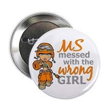 "Combat Girl MS 2.25"" Button (10 pack)"